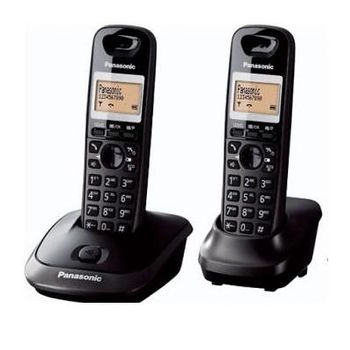 Telephone Dect Panasonic KX-TG2512UAT, Titanium, + трубка, AOH, Caller ID, LCD, Sp-phone (журнал на 50 вызовов), спикерфон на трубке, до 18 ч в режиме разговора, до 170 ч в режиме ожидания