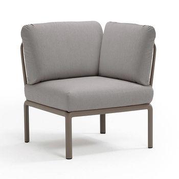 Кресло модуль угловой с подушками Nardi KOMODO ELEMENTO ANGOLO TORTORA-grigio 40374.10.163