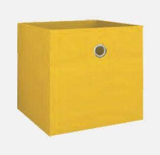 купить Текстильная коробка 280х280х280 мм, желтый в Кишинёве