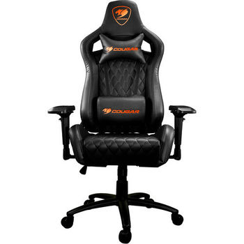 Gaming Chair Cougar ARMOR S Black, User max load up to 120kg / height 155-190cm