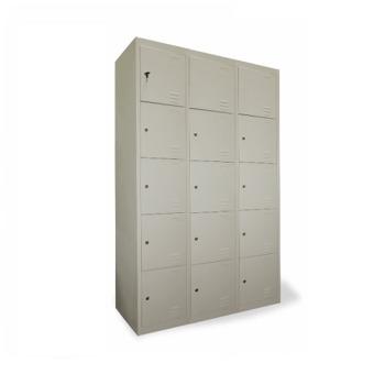 cumpără Dulap metalic pentru depozitare genți cu 15 uși, 1850x1140x450 mm, RAL 9001 în Chișinău