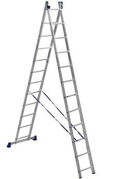 купить ASCARA . VHR TK 2x12 Лестница Алюм.  двухсторонняя в Кишинёве