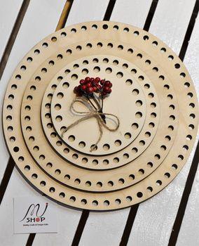 Formă din lemn cerc, 25 cm