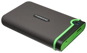 """cumpără 2.0TB (USB3.0) 2.5"""" Transcend """"StoreJet 25M3"""", Rubber Grey, Anti-Shock, One Touch Backup în Chișinău"""