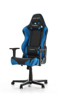 Gaming Chairs DXRacer - Racing GC-R0-NB-Z1, Black/Black/Blue - PU leather, Gamer weight up to 100kg / growth 165-195cm, Foam Density 50kg/m3, 5-star Aluminum IC Base, Gas Lift 4 Class, Recline 90*-135*, Armrests: 3D, Pillow-2, Caster-2*PU, W-23kg