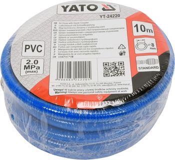 купить Пневматический шланг армированный с быстроразъемными соединениями 8мм * 10м в Кишинёве