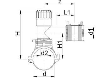 купить Седловой тройник e/f ф.110 x 63 Duo-Bloc PE100 SDR11 +GF+ в Кишинёве