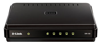 D-LINK DIR-100, Broadband Router, 4-port 10/100Mbps, Ethernet ports, 1USB