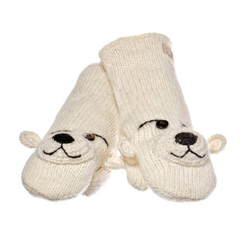 купить Варежки взрослые Knitwits Pee Wee The Polar Bear Mittens, A2899 в Кишинёве
