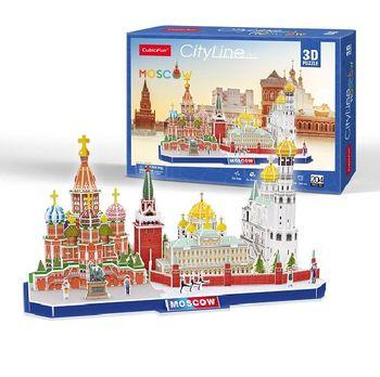 купить CubicFun пазл 3D City line Moscow в Кишинёве