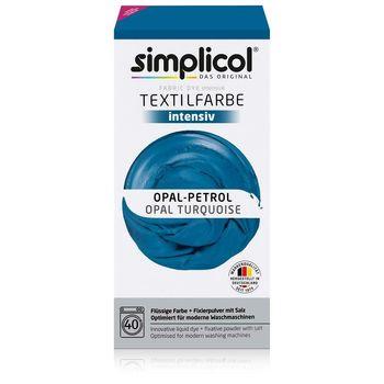 SIMPLICOL Intensiv - Opal-Petrol, Vopsea pentru haine si textile in masina de spalat, Opal-Petrol