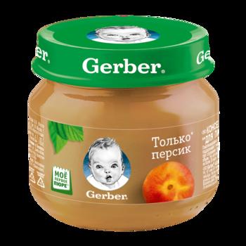 Пюре Gerber персик, с 4 месяцев, 80г