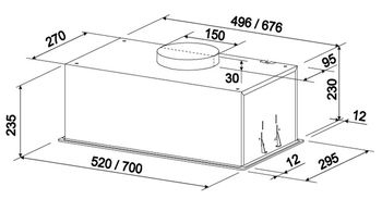 Вытяжка Tornado Modul Sensor 1200 (70) FG WH
