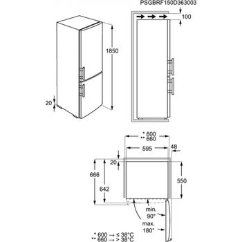 cumpără Frigider cu congelator Electrolux  EN3601MOW în Chișinău