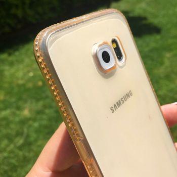 купить Fashion case diamonds Samsung S6 EDGE, Gold в Кишинёве