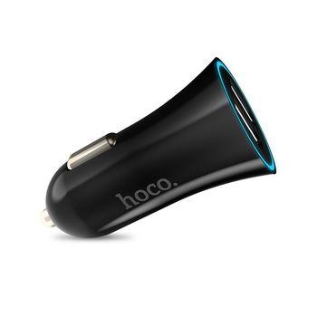 Авто зарядное устройство 2.4A Dual USB Hoco UC204 ( Черная )