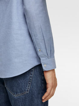 Рубашка ZARA Голубой 8211/311/403.