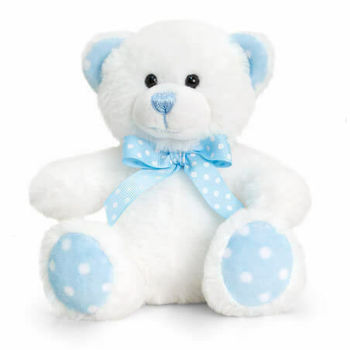 Baby Spotty Bear Мишка с бантиком 15 см, код 42933