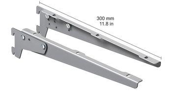 cumpără Clemă unghiulară înclinabilă 300 mm, 1 pereche, argintiu în Chișinău