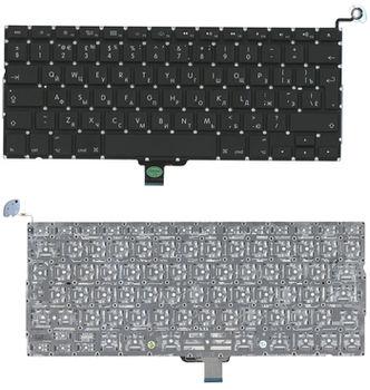 "Keyboard Apple Macbook Pro 13"" A1278 w/o frame ""ENTER""-big ENG/RU Black"