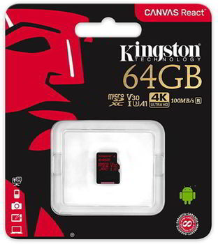 {u'ru': u'64GB microSD Class10 UHS-I U3 (V30)  Kingston Canvas React, Ultimate, 633x, Read: 100Mb/s, Write: 70Mb/s, Water/Shock and vibration/Temperature proof, Protected from airport x-rays', u'ro': u'64GB microSD Class10 UHS-I U3 (V30)  Kingston Canvas React, Ultimate, 633x, Read: 100Mb/s, Write: 70Mb/s, Water/Shock and vibration/Temperature proof, Protected from airport x-rays'}