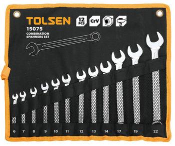 купить Набор ключей комбинированых - 12шт в чехле (6-22мм) TOLSEN в Кишинёве