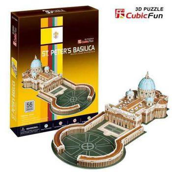 """CubicFun 3D пазл """"St.Peter's Basilica""""   (56 деталей)"""