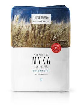 Пшеничная мука Рязаночка 2кг (высший сорт)