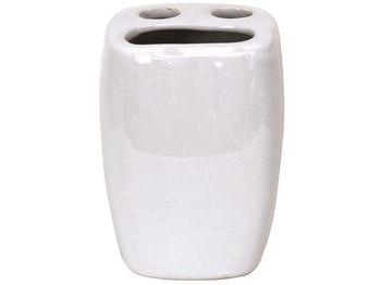 Стакан для зубных щеток MSV белый, керамика