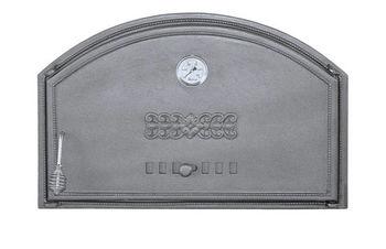 Дверца чугунная глухая с термометром правая DCHD2T