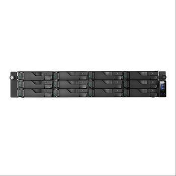 "12-bay NAS Server  ASUSTOR ""AS6212RD"", Rack mount, 2U, Intel Celeron N3150 (Quad-Core) 1.6-2.24GHz, 4GB DDR3L (Max.8GB), 2.5""/3.5""SATA x12 (Hot Swap), USB3.0 x4, GigaLAN x4, HDMI, AES-NI, Hardware transcoding, Surveillance:<25 (4 Free), Redundant PSU"