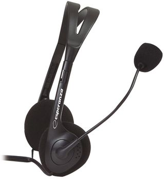 Esperanza EH-102 stereo  headset with microphone and  volume control