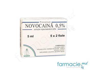 купить Новокаин р/р д/ин.0,5%-5 мл N10 (Фармако) в Кишинёве