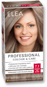 Краска для волос,SOLVEX Elea, 138 мл., 7.1 - Русый пепельный