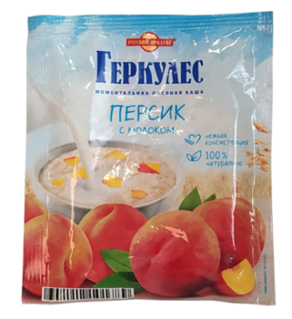 Овсяные хлопья Геркулес с персиком и молоком 35 гр