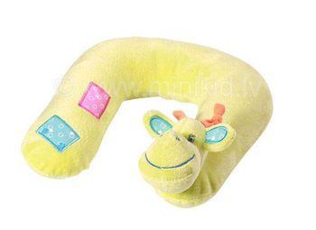 """BabyOno Подушка велюровая """"Жираф"""" под шею (от 0 месяцев)"""