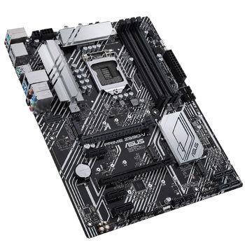 Placa de baza  ASUS PRIME Z590-V-SI Intel Z590, LGA1200, Dual DDR4 5133MHz, 1xPCI-E 4.0/3.0 x16, 1xPCI-E 3.0 x16, DP 1.4/HDMI 2.0, USB3.2 Type-C, SATA RAID 6Gb/s, 3 x M.2 slots, 1x M.2 PCIe 4.0 x4, Intel Optane, SB 8-Ch., Gigabit Ethernet, AURA Sync