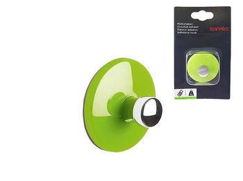 Крючок самоклеющийся Bowl D5cm зеленый, пластик