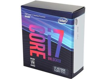Intel® Core™ i7 8700K, S1151, 3.7-4.7GHz (6C/12T), 12MB Cache, Intel® UHD Graphics 630, 14nm 95W, Box