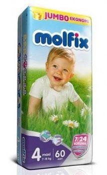 купить Molfix подгузники Jumbo 4, 7-18 кг, 60 шт в Кишинёве