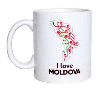 купить Кружка белая – I love Moldova в Кишинёве
