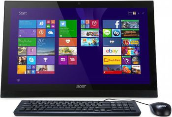 "All-in-One PC - 21,5"" ACER Aspire Z1-622 FullHD + W10 (DQ.B5FME.009) Intel® Pentium® Quad Core N3710 up to 2,56GHz, 4Gb DDR3 RAM, 500Gb HDD, DVD-RW, Card Reader, VESA, Intel® HD Graphics, HD cam, Wi-Fi/BT, Gigabit LAN, 65W PSU, W10HE SL, KB/MS, Black"