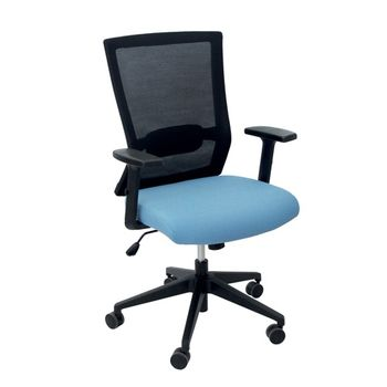cumpără Scaun de birou 635x550x1015 mm, negru cu albastru în Chișinău