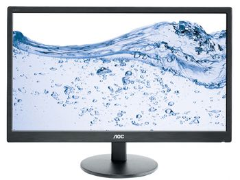 "23.6"" AOC  LED e2470swda Black (5ms, 20M:1, 250cd, 1920x1080, DVI, Speakers, VESA)"