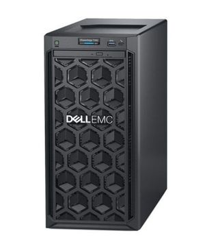 """Dell PowerEdge T140 Tower (Intel Xeon E-2146G, up to 4х3,5"""" Cabled HDD, 16GB DDR4 UDIMM, 1х2TB 7.2K NLSAS 12Gbps 3.5in Cabled, PERC H330 RAID, DVD, iDRAC9 Basic, TPM 2.0, Single cabled 365W PSU)"""