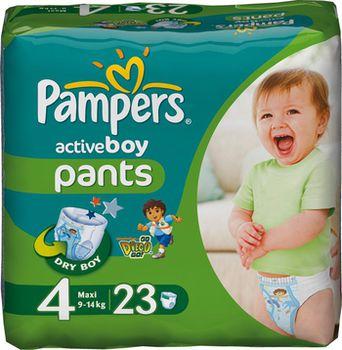 Pampers active boy- подгузники трусики 4