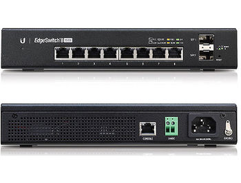 Ubiquiti EdgeSwitch 8 (ES-8-150W), 8-Port Gigabit RJ45, 2-ports SFP, 150W, Supports POE+ IEEE 802.3at/af and 24V Passive PoE, Non-Blocking Throughput: 10 Gbps, Switching Capacity: 20 Gbps, Rackmountable (retelistica switch/сетевой коммутатор)