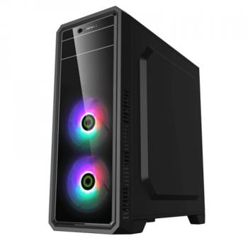 купить Case ATX GAMEMAX G561-FRGB, w/o PSU, 3x120mm, RGB, Transparent panel, USB3.0, Black в Кишинёве