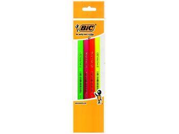 Набор карандашей простых 4шт BIC FLUO Evolution
