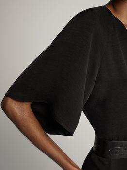 Платье Massimo Dutti Чёрный 6614/748/800